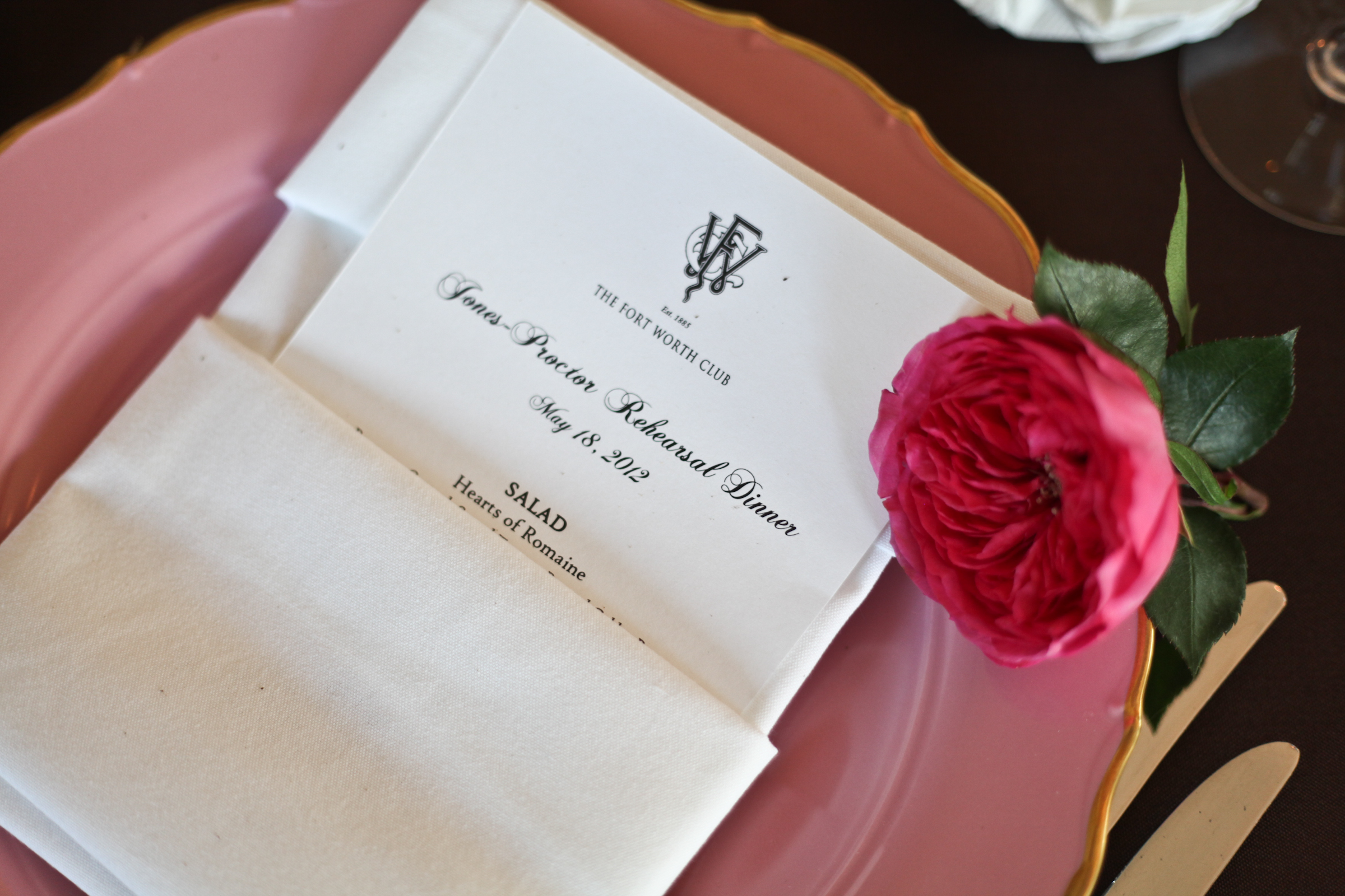 Featured Wedding Event: Proctor Rehearsal Dinner | Fort Worth Club ...