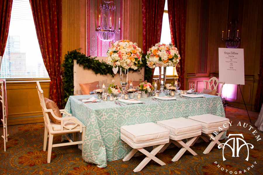 2013 Bridal Showcase: Horizon » Fort Worth Club Open House Wedding Ideas  Tips Lauren Schmidt Events Blue Coral Light Modern Geometric By Tracy Autem  ...